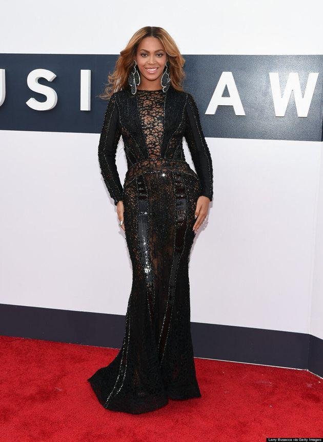 Beyonce Gets Creative With Sheer At The 2014 MTV VMAs