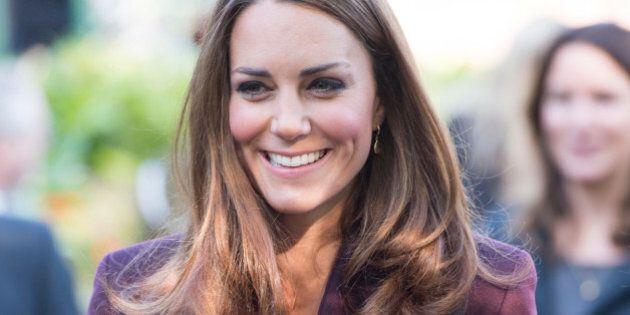 NEWCASTLE, UNITED KINGDOM - JANUARY 13: Catherine, Duchess of Cambridge visits a community garden project...