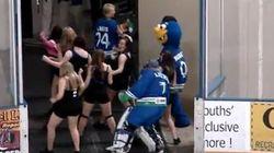 Dancing Goalie Shakes The Junk In His