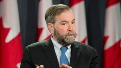 Mulcair Dismisses 'Illegal' Funding