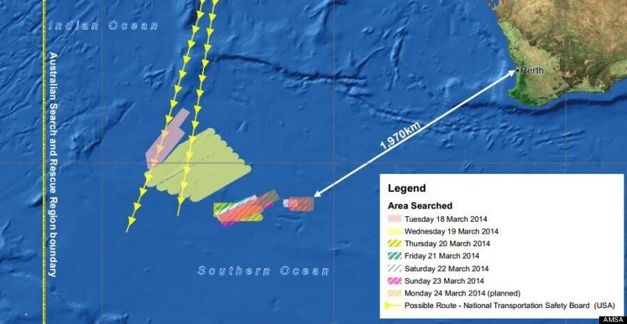 Malaysia Airlines Flight MH370 Search Area Moves Closer To Australia