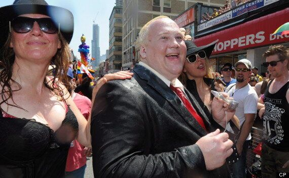 Rob Ford Did Show Up To The Pride Parade, Sort Of