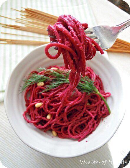 You Can't Beet This Beet Pesto Pasta