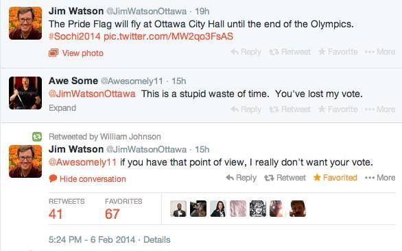 Ottawa Mayor's Reaction To Jab At Olympic Pride Flag Is