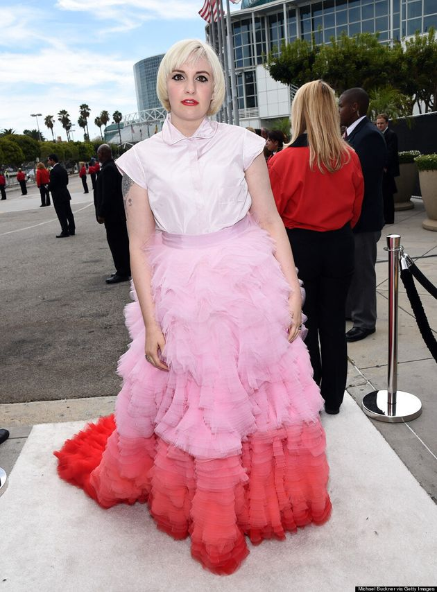 Lena Dunham's 2014 Emmys Dress Will Be Remembered