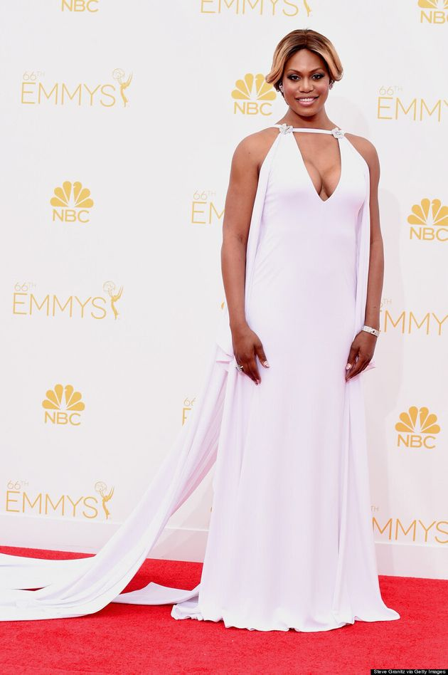 Laverne Cox Makes Glamorous 2014 Emmys Red Carpet