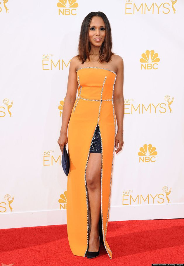 Kerry Washington's 2014 Emmys Is Tangerine And