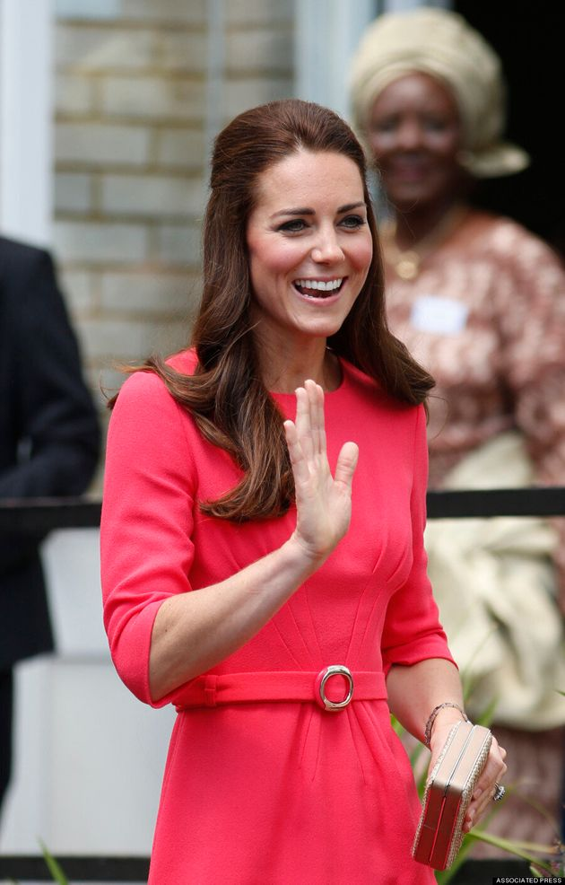 Kate Middleton's Bright Pink Goat Dress Is Perfect For Canada