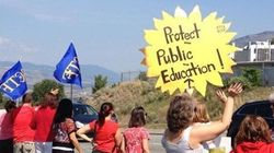 B.C. Teachers Back On Pickets 1 Week Before Scheduled Classes