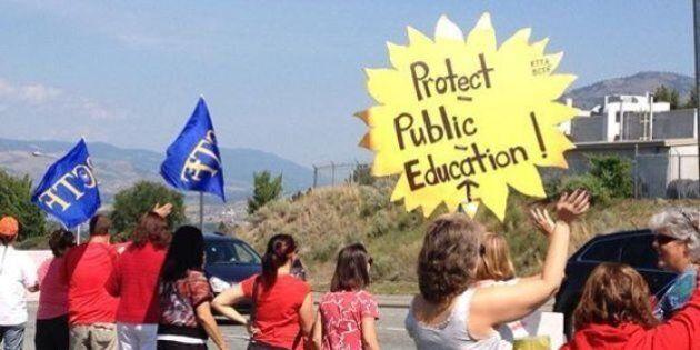 B.C. Teachers' Strike: Educators Back On Picket