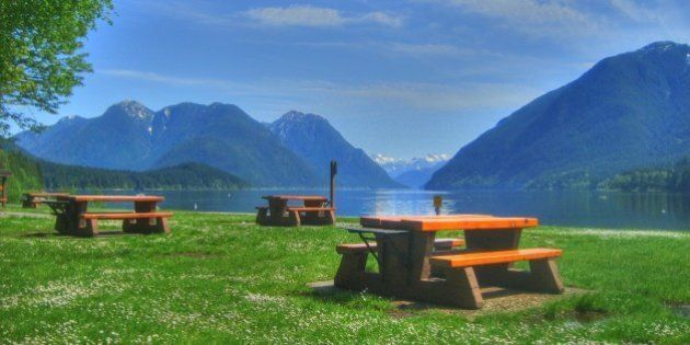 The picnic sites along the south shore of Alouette Lake in Golden Ears Provincial