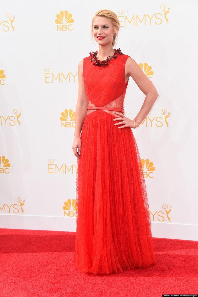 Claire Danes' 2014 Emmys Dress Looked A Lot Like Kim Kardashian's Wedding