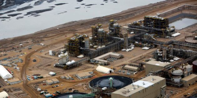 Oil is refined at Royal Dutch Shell Plc's Albian Sands mine near Fort McMurray, Alberta, Canada, on Tuesday,...