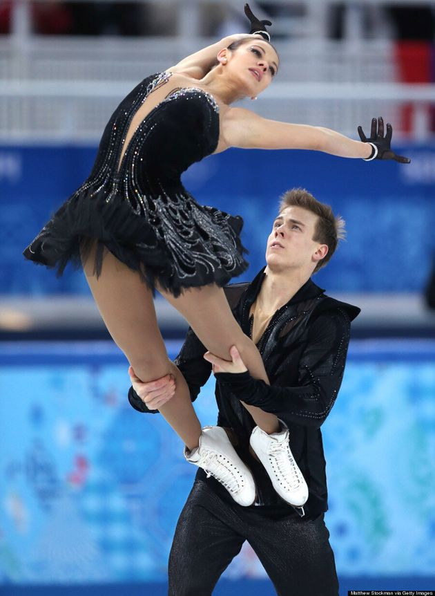 Russia's Ice Dancing Team's Black Swan Outfits Win The 2014 Winter Olympics For Style
