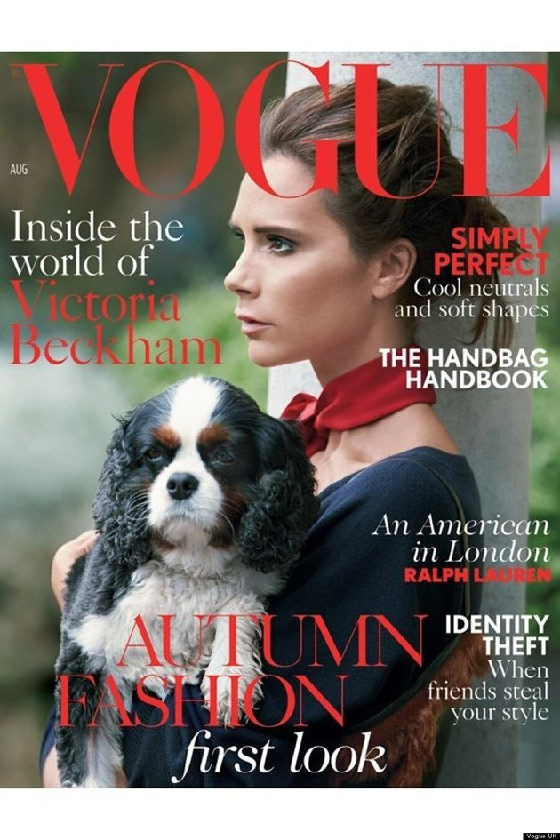 Victoria Beckham Shares Vogue UK Cover With Adorable