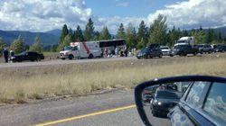 Dozens Injured In Tour Bus Rollover On B.C.