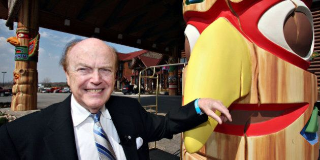 CANADA - APRIL 13:  Jimmy Pattison, chairman, president and chief executive officer of the Jim Pattison Group, poses in the lobby of the Great Wolf Lodge during its opening in Niagara Falls, Ontario, Canada, Thursday, April 13, 2006.  (Photo by Norm Betts/Bloomberg via Getty Images)
