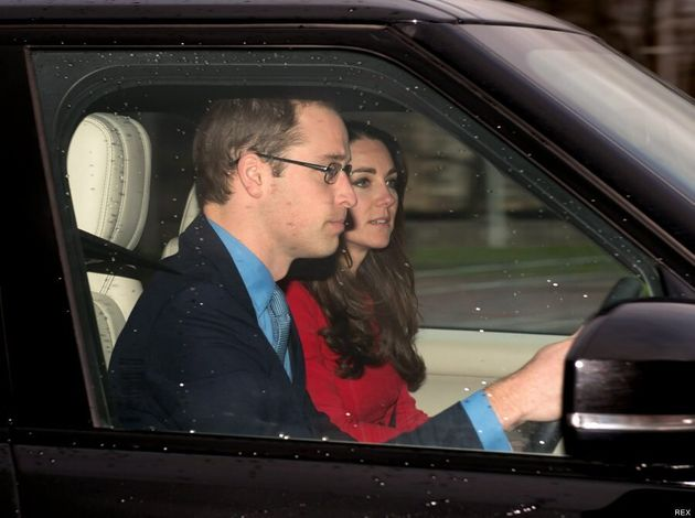 Kate Middleton Wears Festive Red For Queen Elizabeth II's Annual Christmas Lunch