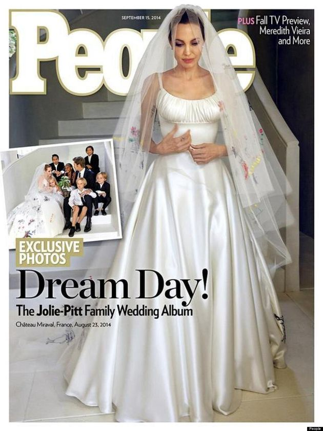 Angelina Jolie's Wedding Dress Is Everything We Imagined It Would Be