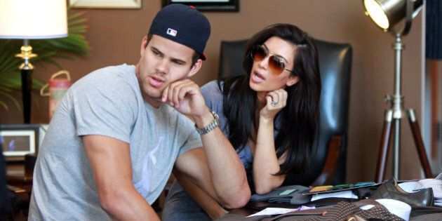 Kim Kardashian and Kris Humphries are seen shopping for their wedding at Scott Hill Bespoke Designs in Beverly Hills on June 15, 2011 in Los Angeles, California.