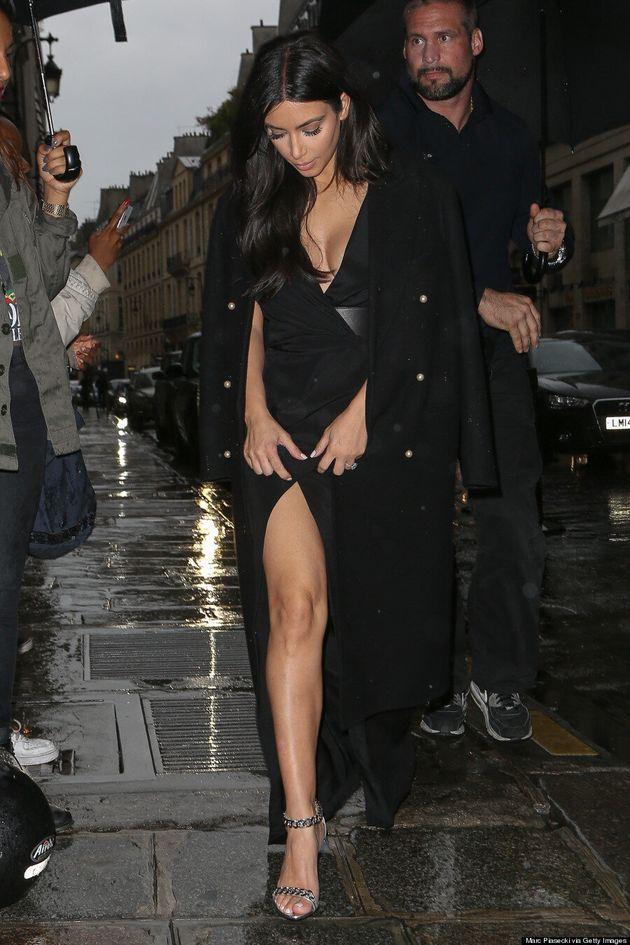 Kim Kardashian's Slinky Black Dress Will Make You Blush