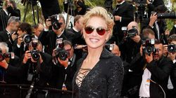Sharon Stone Wears A Mini-Dress Like A
