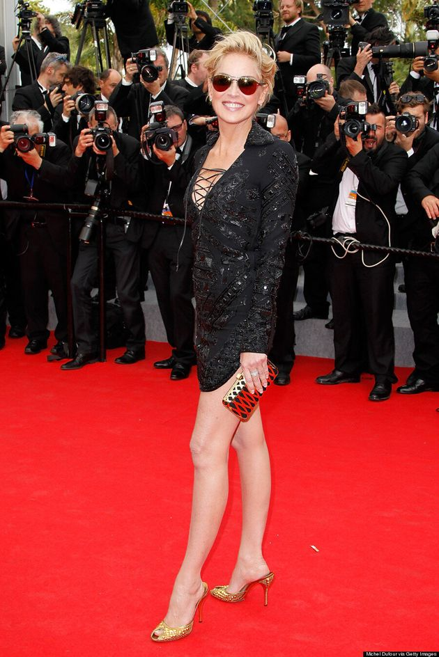 Sharon Stone's Cannes 2014 Outfit Is A Mini-Dress, Hell