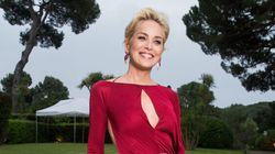 Sharon Stone Goes Braless At