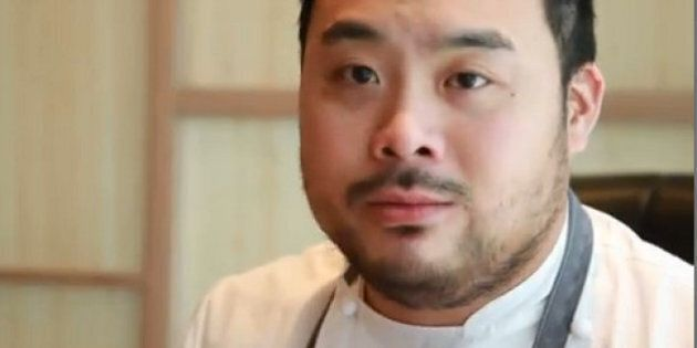 TORONTO, ON - SEPTEMBER 19:  Momofuku Noodle Bar opens for lunch + we get exclusive inside access and words with NYC owner David Chang.        (Rene Johnston/Toronto Star via Getty Images)