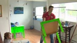 Dad Builds Mini-School In Living