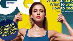 Jessica Alba Makes Modest Swimsuit Look