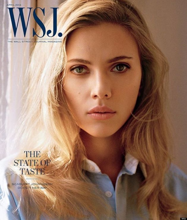 Scarlett Johansson's Lips Are Perfectly Pouty On The WSJ