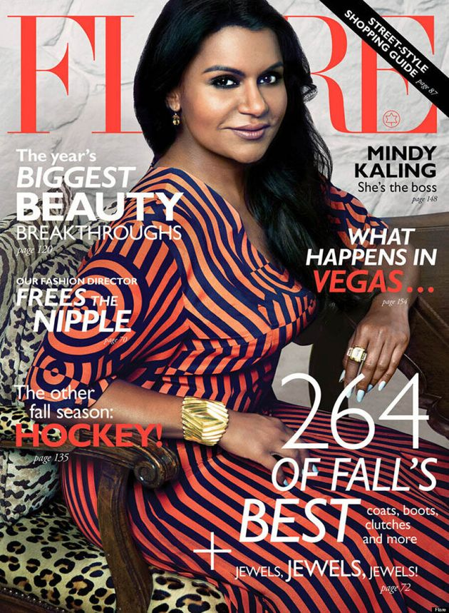 Mindy Kaling's Flare Cover Is The Fashion Photo We've Been Waiting
