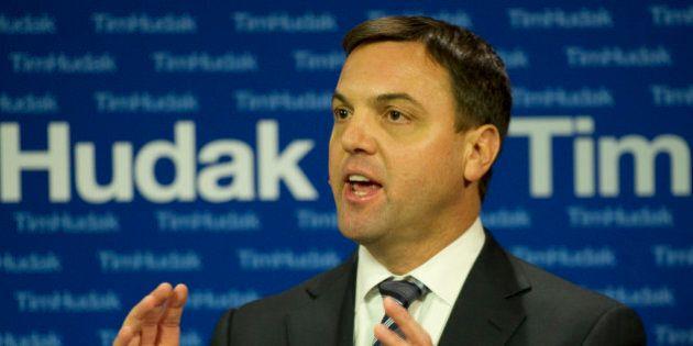 12/6/10 - TORONTO, ONTARIO - PC Leader Tim Hudak reacts to Ontario Auditor General Jim MCcarter's 2010...