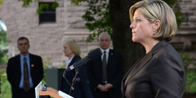 Ontario New Democrat leader Andrea Horwath launched the NDP's election campaign in Toronto at Queen's...