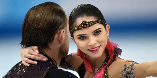 Russia's Yuri Larionov and Russia's Vera Bazarova perform their Figure Skating Pairs Free Program at...