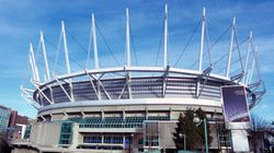 New Roof At BC Place Leaks.