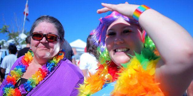 Pride parade in Calgary; Sept.