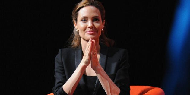 LONDON, ENGLAND - JUNE 12: UN Special Envoy and actress Angelina Jolie attends the Global Summit to End...