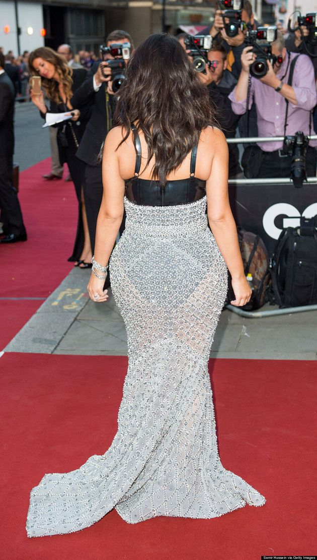 Kim Kardashian Wears Latex Bodysuit To GQ Awards, Looks