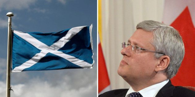 Harper: Scottish Independence Won't Serve Greater Global