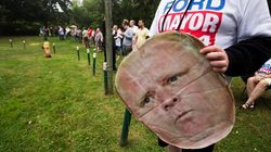 Man Wearing Rob Ford Mask Arrested At Ford Campaign