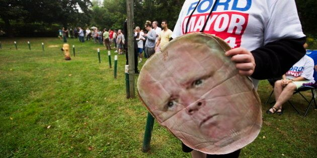 Man In Rob Ford Mask Arrested At Mayor's Campaign