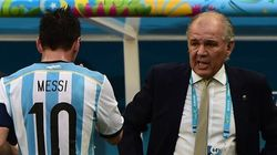 WATCH: Argentina's Manager Almost Falls From