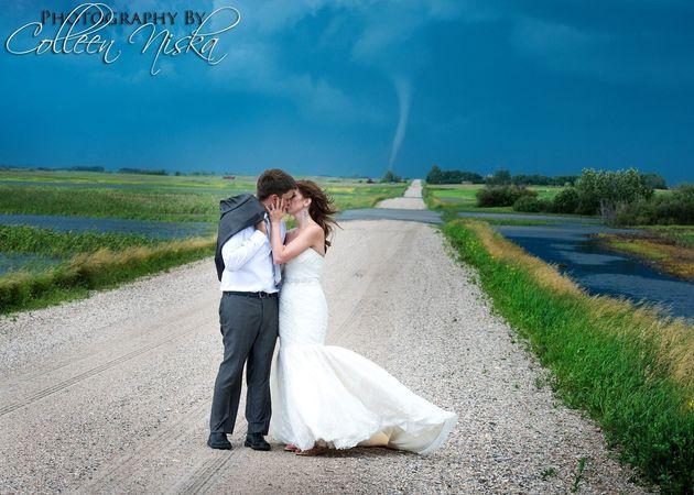 Tornado In Wedding Photos Makes For A Stunning