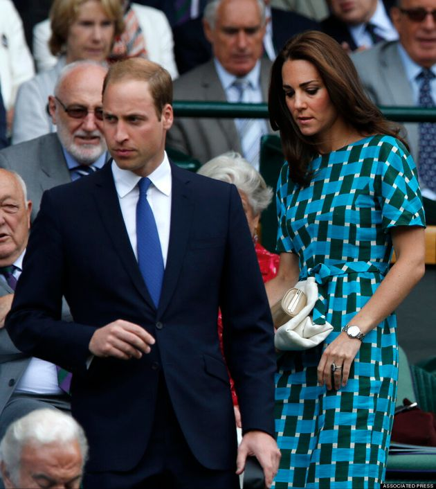 Kate Middleton Lights Up Royal Box At Wimbledon In Dress
