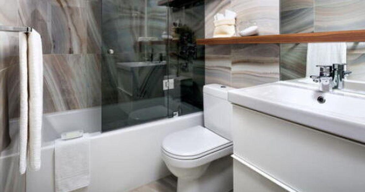 Designer 1 2 3 Compact Condo Bathroom Renovation Huffpost Canada
