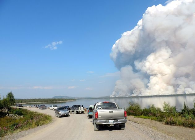 Photos From Fires In The Northwest Territories Are