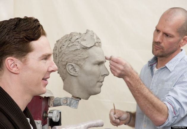 Benedict Cumberbatch Gets Friendly With His Replica