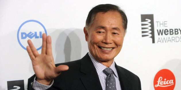 NEW YORK, NY - MAY 19:  Actor George Takei attends 18th Annual Webby Awards  on May 19, 2014 in New York, United States.  (Photo by Brad Barket/Getty Images)